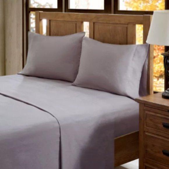 Threshold Bedding Earth Purple Flannel Sheet Set Queen Size Poshmark